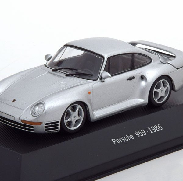 Porsche 959 1986 Zilver 1-43 Atlas Porsche Collection