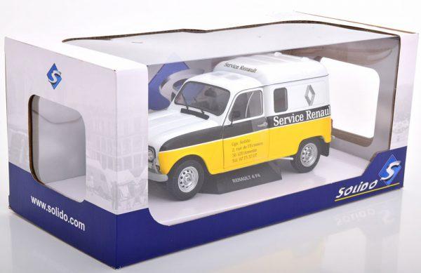 Renault 4LF4 Service Renault 1975 Wit / Geel / Zwart 1-18 Solido