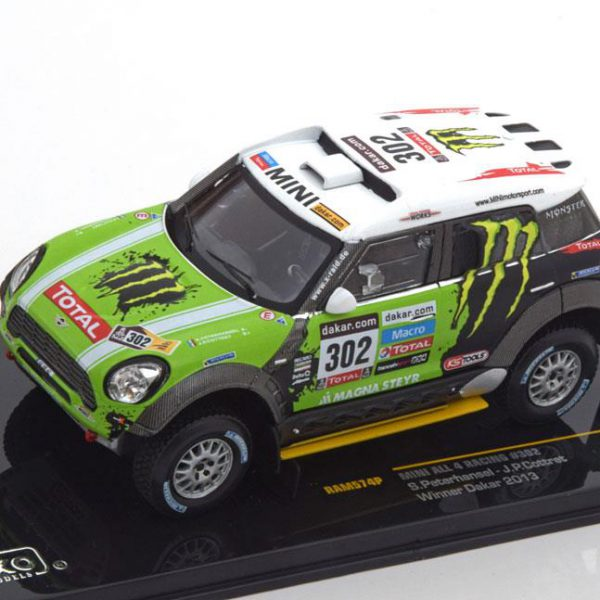 Mini All 4 Racing Nr# 302 Monster Sieger Rally Dakar Peterhansel/Cottret 1-43 Ixo Models
