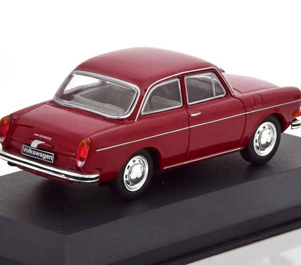 Volkswagen 1600 L 1970 Bordeaux Rood 1-43 Whitebox Limited 1000 Pieces