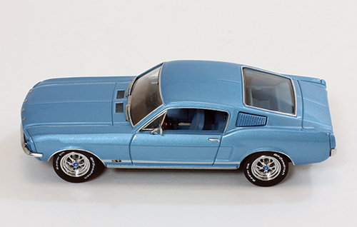 Ford Mustang GT Fastback 1967 Blauw 1-43 PremiumX