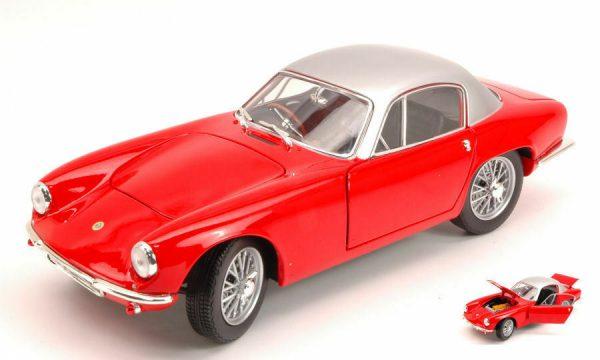 Lotus Elite Coupé 1957-1963 Rood/Zilver 1-18 WhiteBox