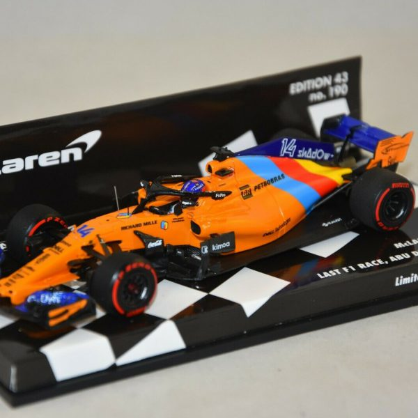 McLaren MCL33 #14 Last F1 Race Fernando Alonso Dhabi GP 2018 1:43 Minichamps Limited 718 Pieces