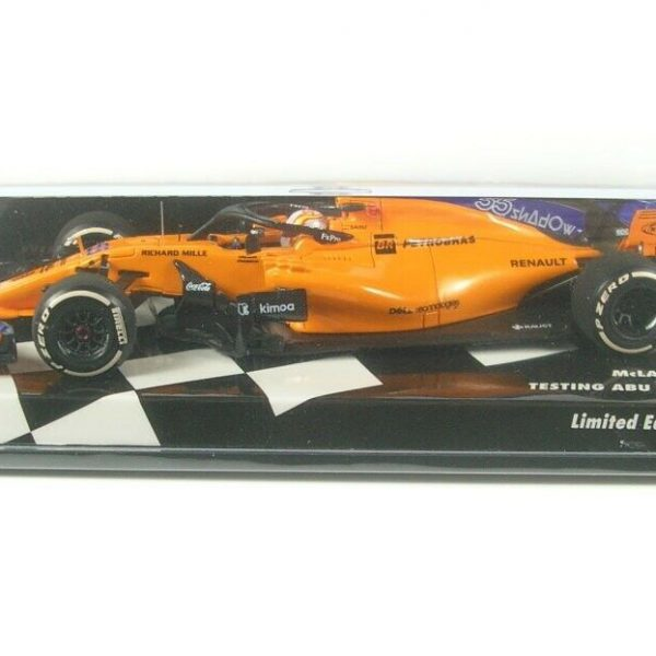 Mclaren F1 Team MCL33 No.55 Testing Abu Dhabi GP Formula 1 2018 ( Carlos Sainz Jr.) 1-43 Minichamps Limited 218 Pieces
