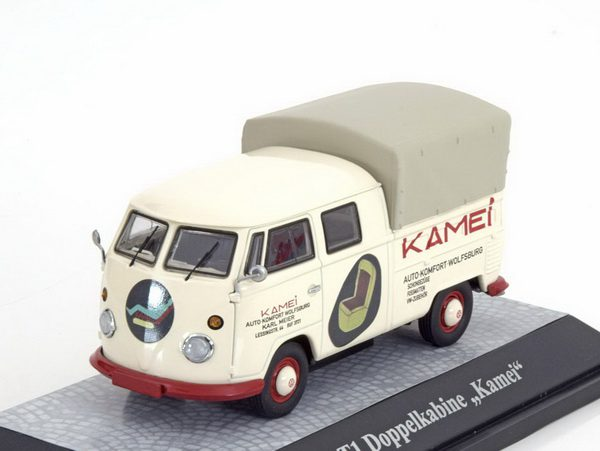 Volkswagen T1 Dubbelcabine Kamei Beige 1:43 Premium ClassiXXs Limited 500 Pieces