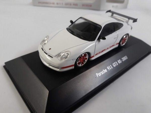 Porsche 911 GT3 RS 2003 Wit / rood 1-43 Atlas Porsche Collection