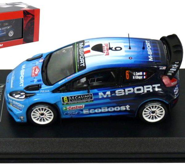 Ford Fiesta RS WRC #6 Carilli/Klinger Rally Monte Carlo 2016 Atlas Diecast Club 1-43
