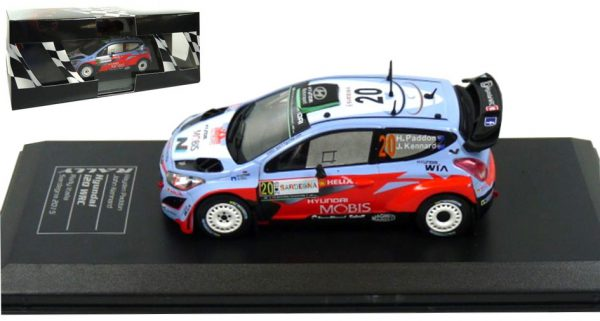 Hyundai I20 WRC #20 Paddon/Kennard Rally Sardegna Italia 2015 Atlas Diecast Club 1-43