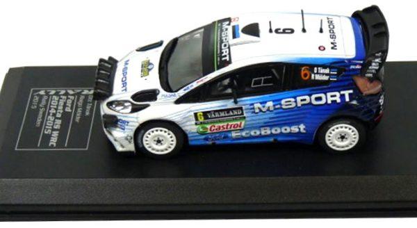 Ford Fiesta RS WRC #6 Tanak/Moider Rally Sweden 2015 Atlas Diecast Club 1-43