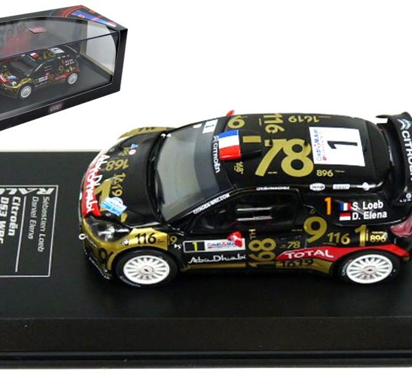 Citroen DS3 WRC #1 Loeb/Elena Rally France 2013 Atlas Diecast Club 1-43