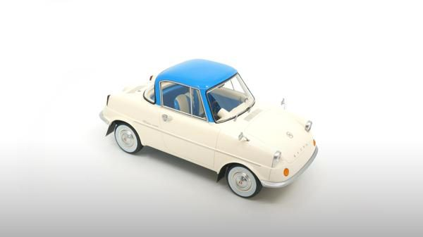 Mazda R360 1960 Beige / Blauw 1-18 DNA Collectibles Limited 320 Pieces