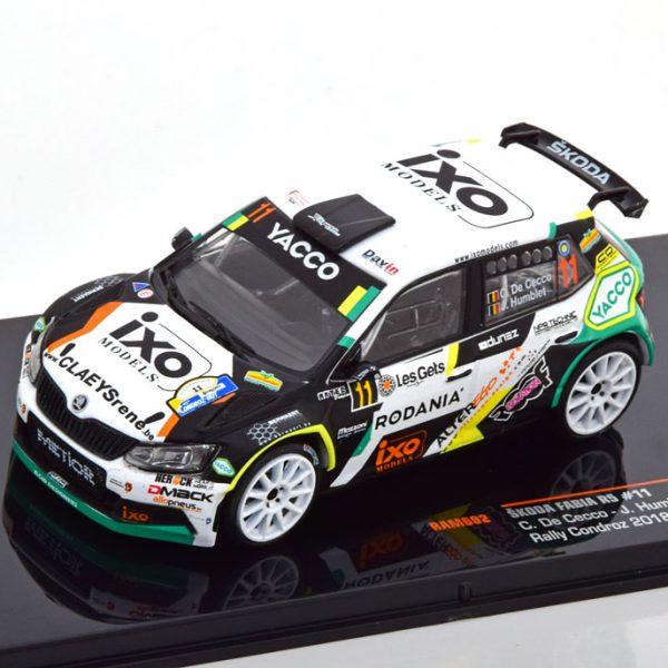 Skoda Fabia R5 No.11, Rally Condroz 2018 De Cecco/Humblet 1-43 Ixo Models