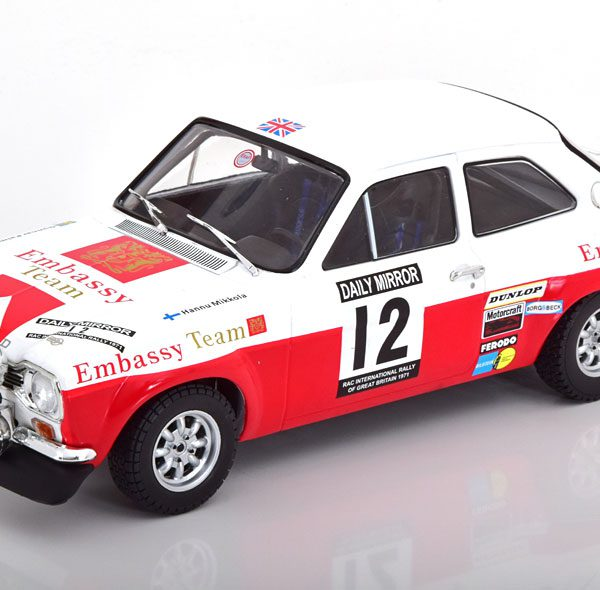 Ford Escort MK1 RS1600 #12 RAC Rally 1971 H.Mikkola-G.Palm 1:18 Ixo-Models