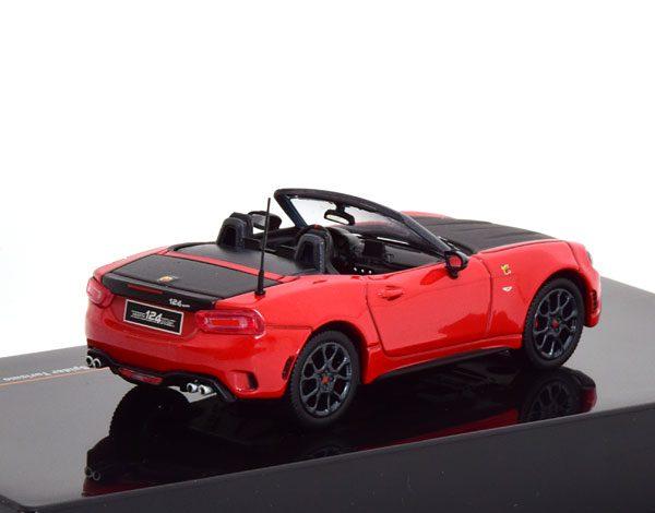 Fiat Abarth 124 Spider Turismo 2017 Rood / Zwart 1-43 Ixo Models