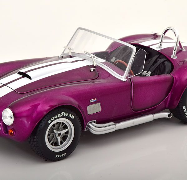 AC Cobra 427 MKII 1965 Paars / Wit 1-18 Solido