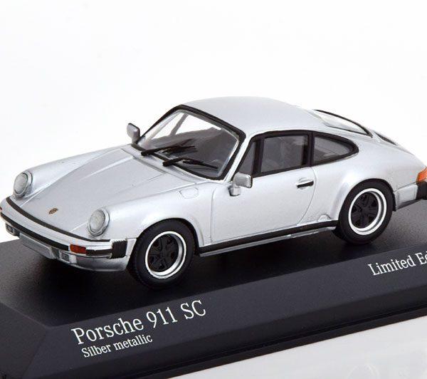 Porsche 911 SC Coupe 1979 Zilver 1-43 Minichamps Limited 500 Pieces