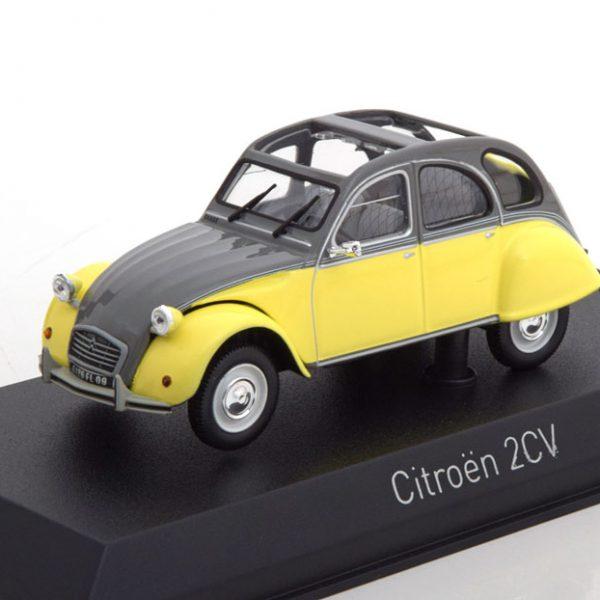 Citroen 2CV Dolly 1985 Geel / Grijs 1-43 Norev