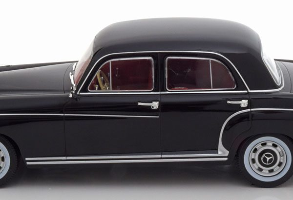Mercedes-Benz 220S ( W180) Limousine 1956 Zwart 1-18 KK Scale Limited 1250 Pieces