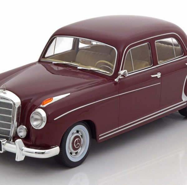 Mercedes-Benz 220S ( W180) Limousine 1956 Donkerrood 1-18 KK Scale Limited 750 Pieces