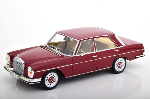 Mercedes-Benz 280 SE (W108) Limousine 1968 Donkerrood 1-18 Norev