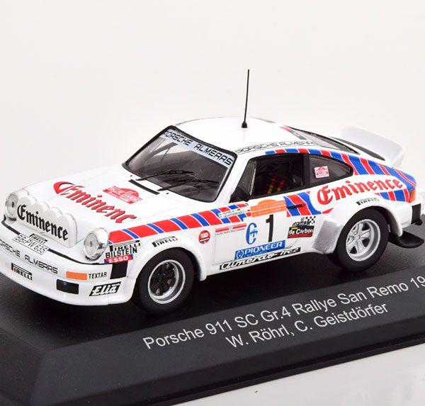 Porsche 911 SC - Gr.4 No.1, Rally San Remo 1981 Röhrl/Geistdörfer 1-43 CMR Models