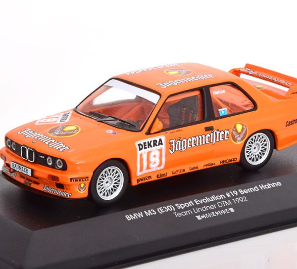 "BMW M3 E30 No.19, DTM 1992 ""Jagermeister "" Hahne 1-43 CMR Models"