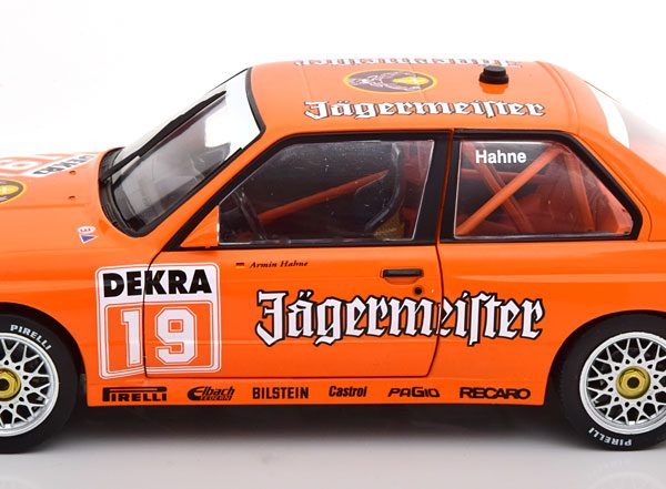 BMW E30 M3 DTM 1995 #19 Jagermeister Hahne 1:18 Oranje Solido