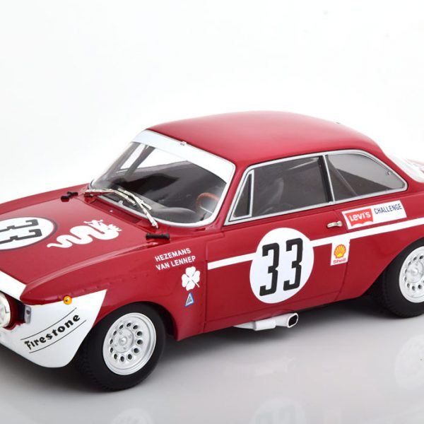 Alfa Romeo GTA 1300 Junior No.33, 6h Jarama 1972 Hezemanns/van Lennep 1-18 Minichamps Limited 300 Pieces