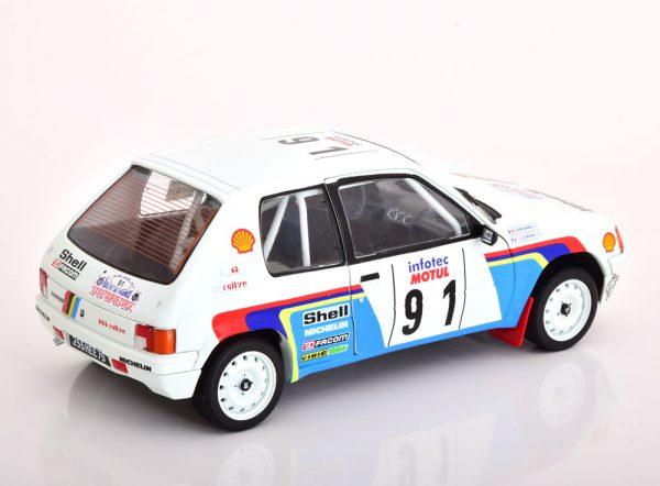 Peugeot 205 Rallye #91 Tour de Corse 1989 Bihan/Kervarrec 1:18 Solido