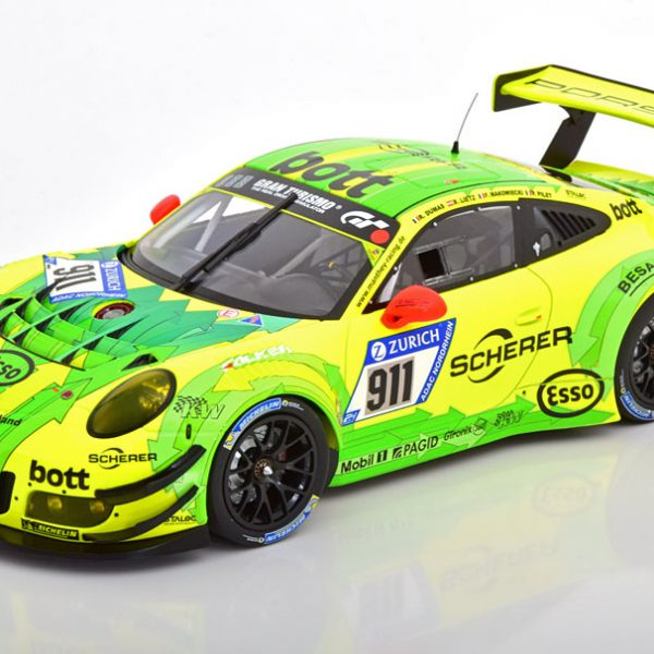 Porsche 911 (991) GT3 R No.911, 24h Nürburgring 2017 Dumas/Lietz/Makowiecki/Pilet 1-18 Minichamps Limited 354 Pieces