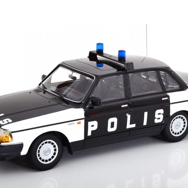 Volvo 240 GL 1986 Polis Zweden Zwart / Wit 1-18 Minichamps Limited 330 Pieces
