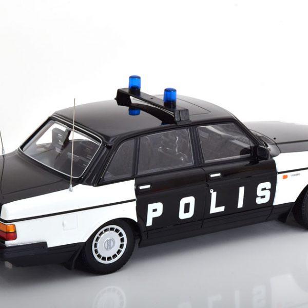Volvo 240 GL 1986 Polis Zweden Zwart / Wit 1-18 Minichamps Limited 330 Pieces