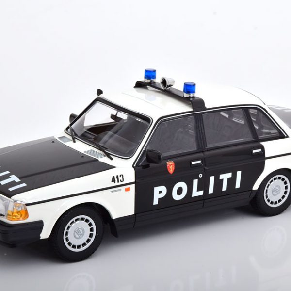 Volvo 240 GL Politi Norway 2 1986 Zwart / Wit 1-18 Minichamps Limited 300 Pieces