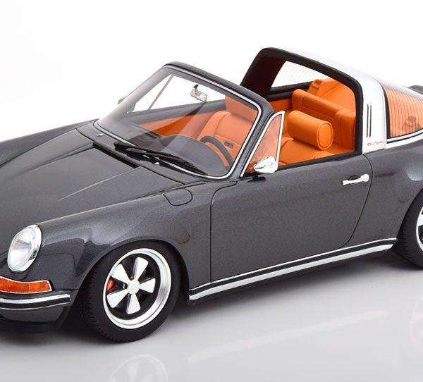 Porsche 911 (964) Targa Singer 1990 Grijs Metallic 1-18 Cult Scale Models