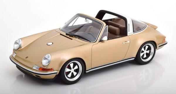 Porsche 911 (964) Targa Singer 1990 Goud Metallic 1-18 Cult Scale Models