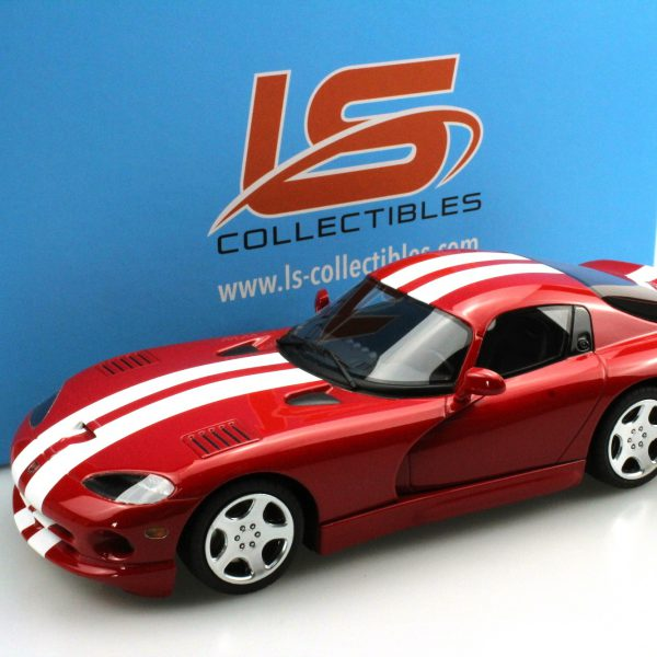 Dodge Viper GTS 2002 Red / White stripes 1-18 LS Collectibles Limited 250 Pieces