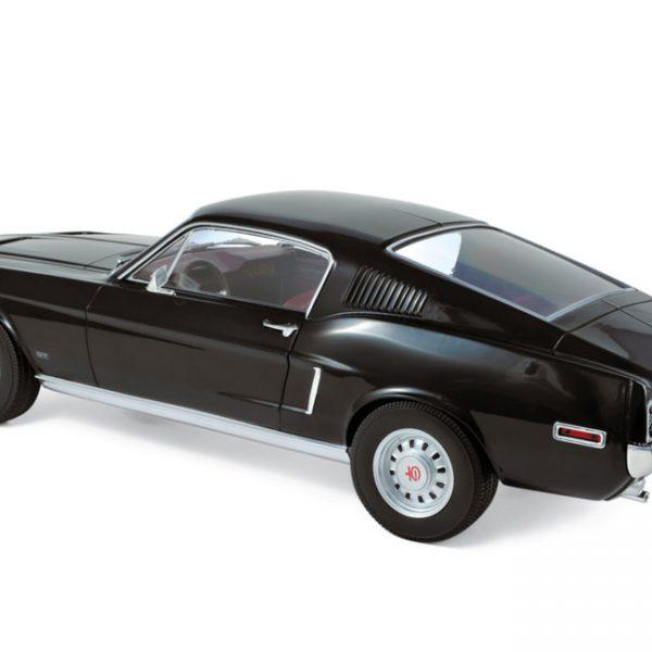 Ford Mustang Fastback 1968 -Zwart 1-12 Norev
