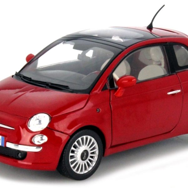 Fiat Nuova 500 Rood 1:18 Motormax