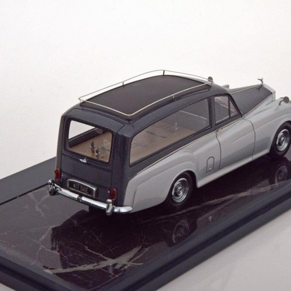 Rolls Royce Silver Cloud Simpson & Slater Hearse 1957 Donkergrijs/Zilver 1:43 Matrix Scale Models Limited 408 pcs.