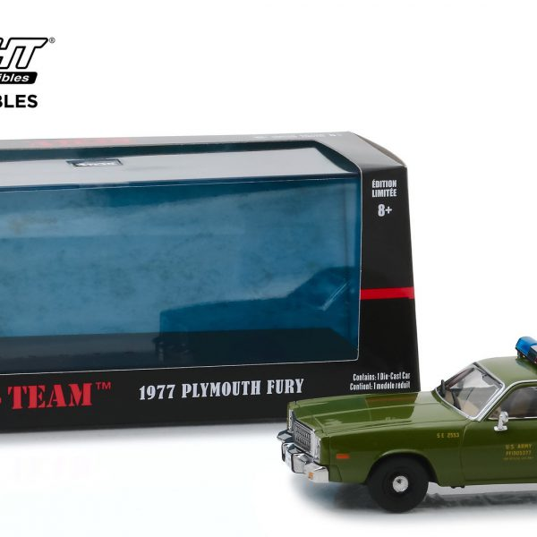 "Plymouth Fury 1977 "" The A-Team ""(1983-87 TV Series) US Army Police 1/43 Greenlight Collectibles"