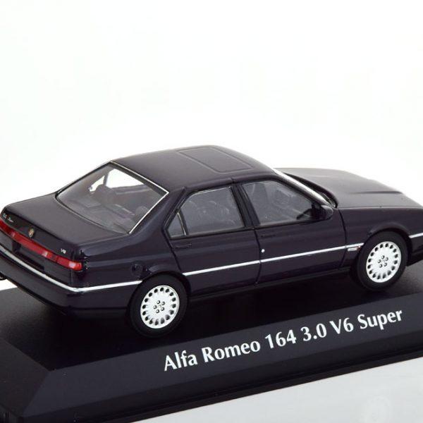 Alfa Romeo 164 3.0 V6 Super 1992 Donkerblauw 1-43 Maxichamps