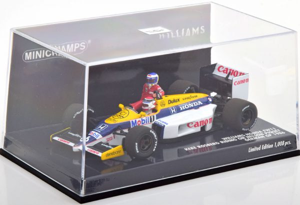 Williams Honda FW11 GP Germany 1986( Rosberg Riding on Piquet ) 1-43 Minichamps Limited 1008 Pieces