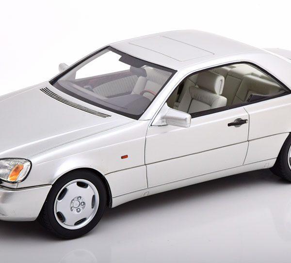 Mercedes-Benz 600 SEC ( C140 ) 1992 Zilver 1-18 Cult Scale Models ( Resin )