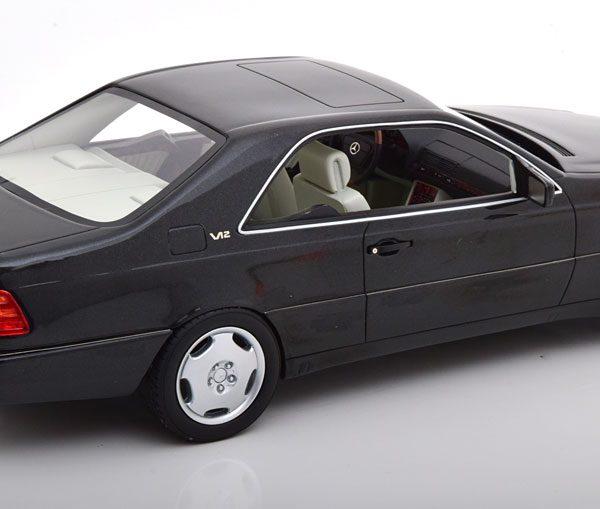 Mercedes-Benz 600 SEC ( C140 ) 1992 Zwart Metallic 1-18 Cult Scale Models