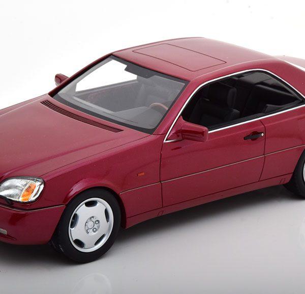 Mercedes-Benz 600 SEC ( C140 ) 1992 Rood Metallic 1-18 Cult Scale Models