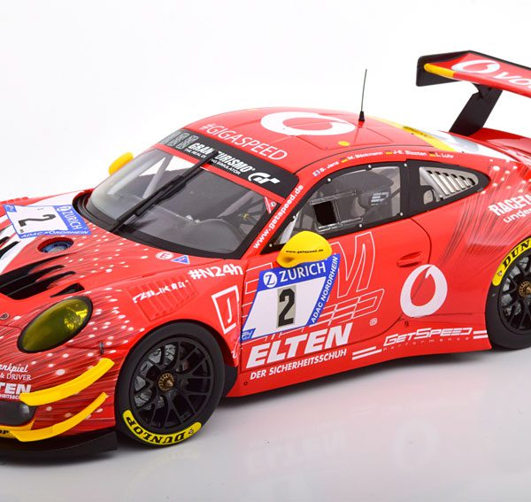 Porsche 911 (991) GT3 R No.2, 24h Nürburgring 2018 Steve/Böckmann/Slooten/Luhr 1-18 Minichamps Limited 504 Pieces