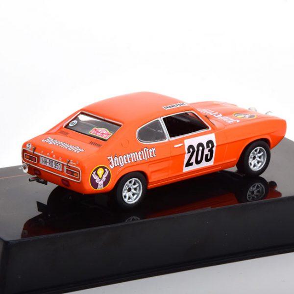 "Ford Capri MK1 N#.203, Rally Monte Carlo 1973 ""Jägermeister"" Schimpf/Zauner 1-43 Ixo Models"