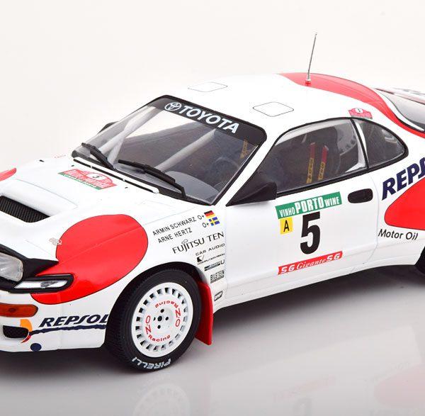 Toyota Celica GT ST165 No.5, Rally Portugal 1992 Schwarz/Herz 1-18 Ixo Models