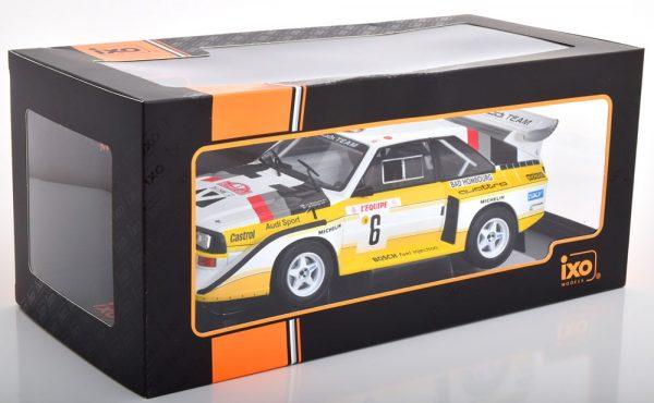 Audi Sport Quattro S1 No.6, Rally Monte Carlo 1986 Mikkola/Hertz 1-18 Ixo Models ( Inkl.Decals )
