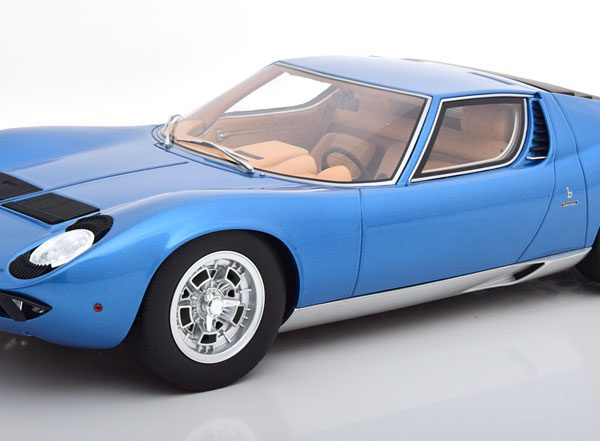 Lamborghini Miura P400 S Blauw Metallic 1-12 GT Spirit ( Made for Kyosho ) Limited 350 Pieces
